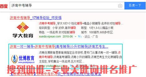 济南中考辅导关键词排名优化案例
